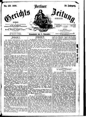 Berliner Gerichts-Zeitung vom 08.11.1890