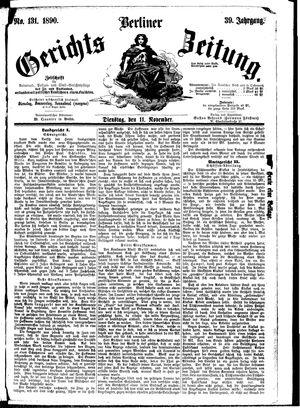 Berliner Gerichts-Zeitung vom 11.11.1890