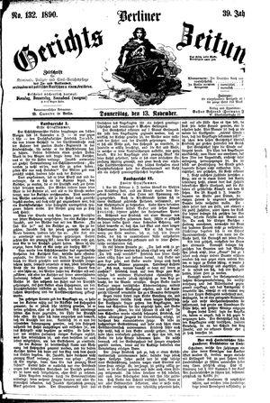 Berliner Gerichts-Zeitung vom 13.11.1890
