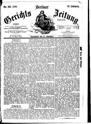 Berliner Gerichts-Zeitung vom 15.11.1890