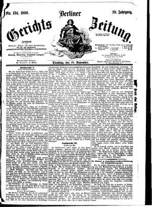 Berliner Gerichts-Zeitung vom 18.11.1890