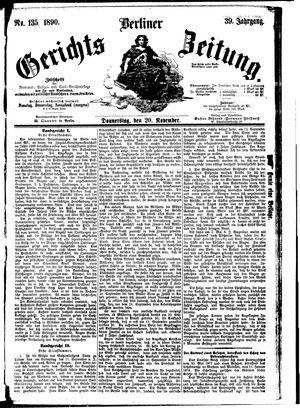 Berliner Gerichts-Zeitung vom 20.11.1890