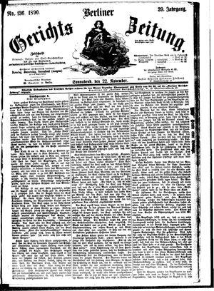 Berliner Gerichts-Zeitung vom 22.11.1890
