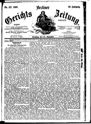 Berliner Gerichts-Zeitung vom 25.11.1890