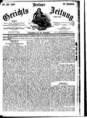 Berliner Gerichts-Zeitung vom 29.11.1890