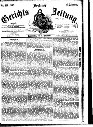 Berliner Gerichts-Zeitung vom 04.12.1890