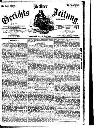 Berliner Gerichts-Zeitung vom 06.12.1890