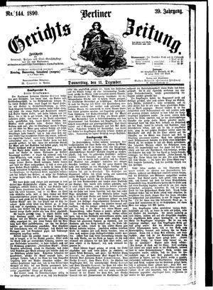 Berliner Gerichts-Zeitung vom 11.12.1890
