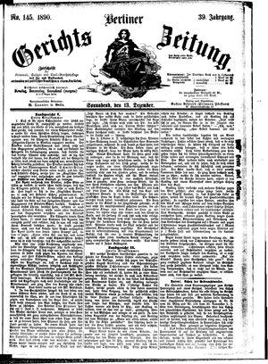 Berliner Gerichts-Zeitung vom 13.12.1890