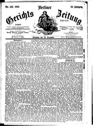 Berliner Gerichts-Zeitung vom 16.12.1890