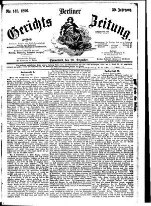 Berliner Gerichts-Zeitung vom 20.12.1890