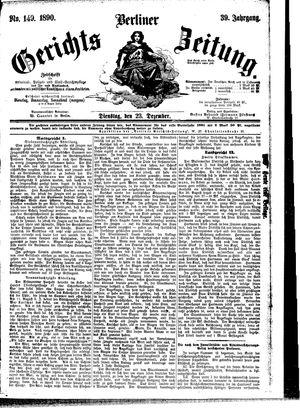 Berliner Gerichts-Zeitung vom 23.12.1890