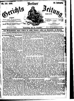 Berliner Gerichts-Zeitung vom 25.12.1890