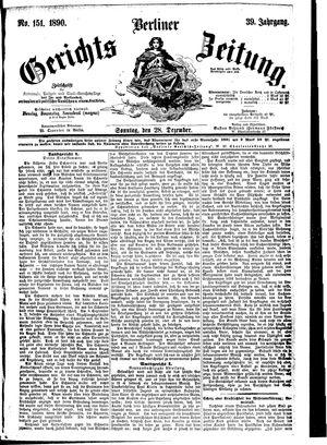 Berliner Gerichts-Zeitung vom 28.12.1890
