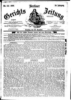 Berliner Gerichts-Zeitung vom 30.12.1890