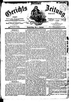 Berliner Gerichts-Zeitung vom 01.01.1891