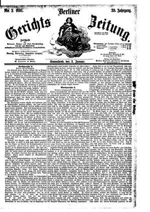 Berliner Gerichts-Zeitung vom 03.01.1891