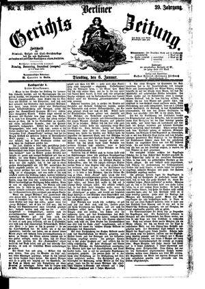 Berliner Gerichts-Zeitung vom 06.01.1891