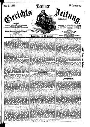 Berliner Gerichts-Zeitung vom 15.01.1891