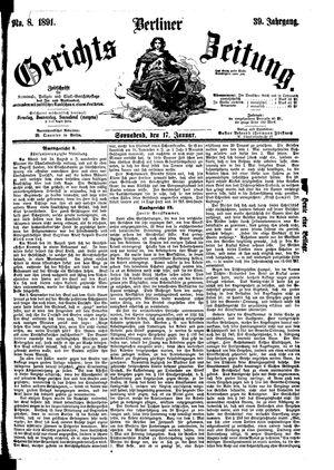 Berliner Gerichts-Zeitung vom 17.01.1891