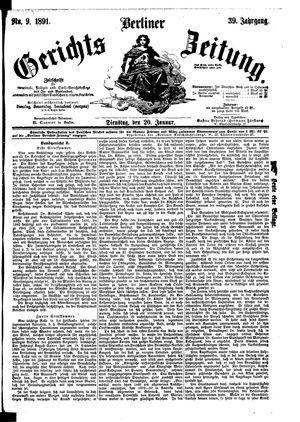 Berliner Gerichts-Zeitung vom 20.01.1891