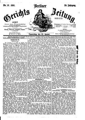 Berliner Gerichts-Zeitung vom 22.01.1891