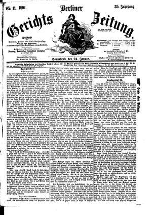 Berliner Gerichts-Zeitung vom 24.01.1891