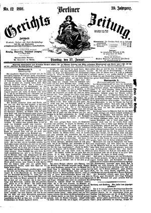 Berliner Gerichts-Zeitung vom 27.01.1891