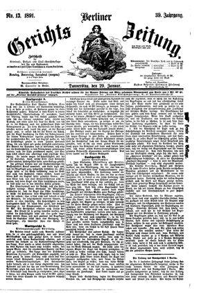 Berliner Gerichts-Zeitung vom 29.01.1891