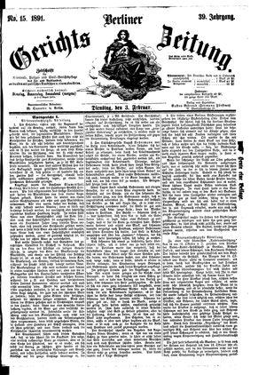 Berliner Gerichts-Zeitung vom 03.02.1891