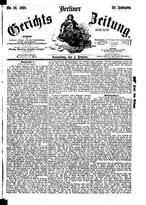 Berliner Gerichts-Zeitung vom 05.02.1891