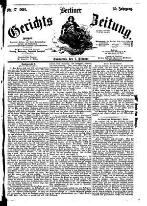 Berliner Gerichts-Zeitung vom 07.02.1891