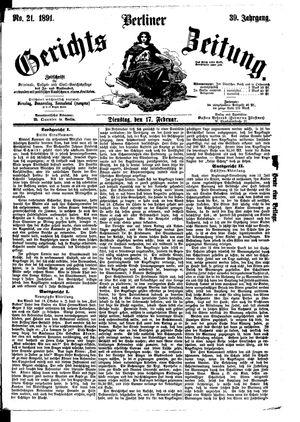 Berliner Gerichts-Zeitung vom 17.02.1891