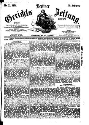 Berliner Gerichts-Zeitung vom 19.02.1891