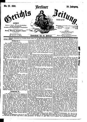 Berliner Gerichts-Zeitung vom 21.02.1891
