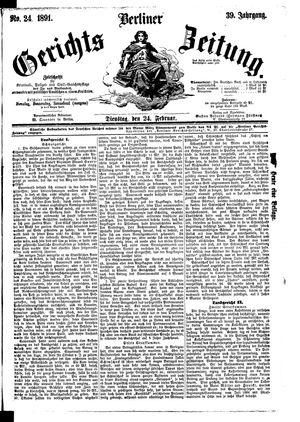 Berliner Gerichts-Zeitung vom 24.02.1891