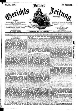 Berliner Gerichts-Zeitung vom 26.02.1891