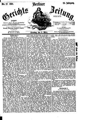 Berliner Gerichts-Zeitung vom 03.03.1891