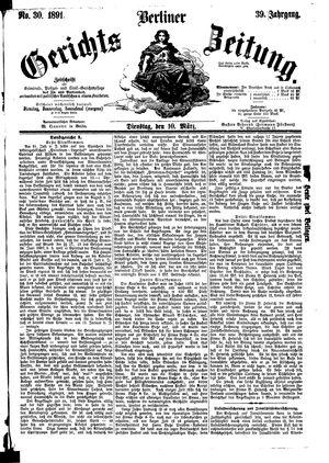 Berliner Gerichts-Zeitung vom 10.03.1891