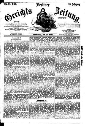 Berliner Gerichts-Zeitung vom 12.03.1891
