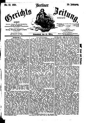 Berliner Gerichts-Zeitung vom 14.03.1891
