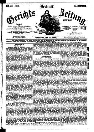Berliner Gerichts-Zeitung vom 21.03.1891