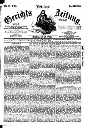 Berliner Gerichts-Zeitung vom 24.03.1891