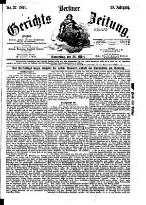 Berliner Gerichts-Zeitung vom 26.03.1891