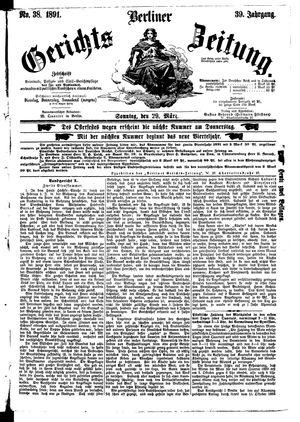 Berliner Gerichts-Zeitung vom 29.03.1891