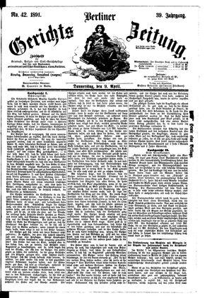 Berliner Gerichts-Zeitung vom 09.04.1891