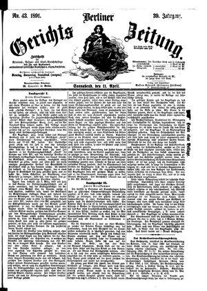 Berliner Gerichts-Zeitung vom 11.04.1891
