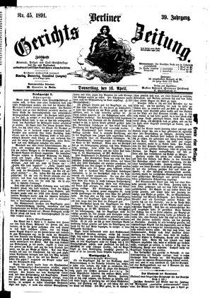 Berliner Gerichts-Zeitung on Apr 16, 1891