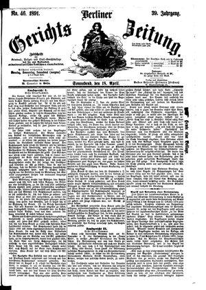 Berliner Gerichts-Zeitung vom 18.04.1891