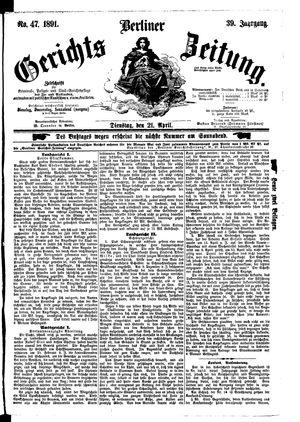 Berliner Gerichts-Zeitung vom 21.04.1891